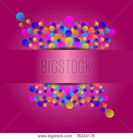 Beautiful Holiday Event Card With Colorful Balloon
