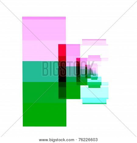 Camera lens isolated on white background. Abstract fractal. Atypical artwork. Illustration.