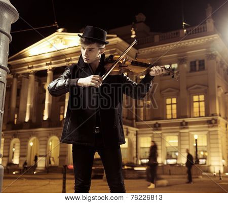 Young man with violin