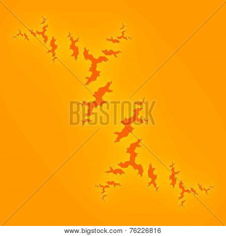 Yellow note paper. Abstract orange background for design artworks. Torn notepaper.