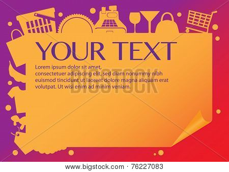 Shopping Page Layout Design Vector Background