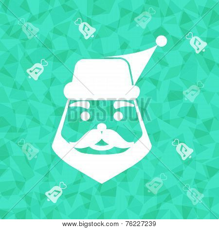 Santa Claus On Dazzled Triangle Background