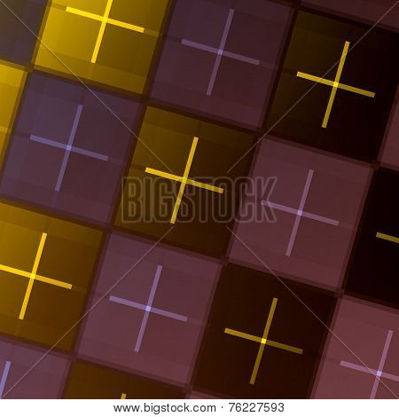 Abstract Geometric Background - Repeating Tiles - Green Purple Square Tile Pattern - Graphic Art Des