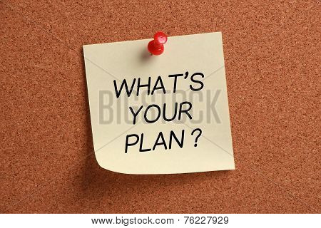 What's Your Plan? memo