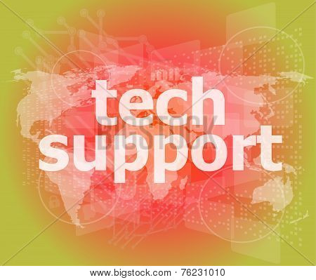 Tech Support Word On A Touch Screen Interface