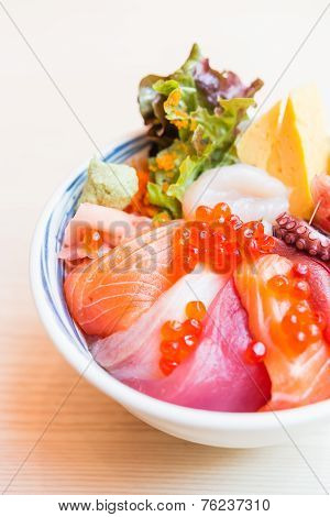 Sashimi Raw Fish Rice Bowl