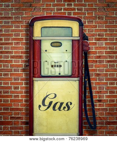 Retro Vintage Gasoline Pump