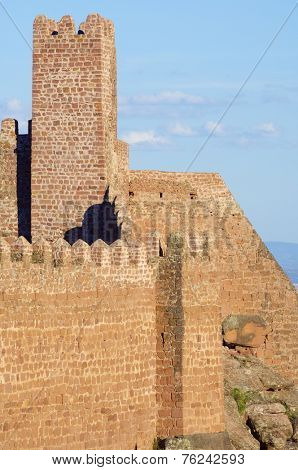Peracense Castle, X-XI centuries, in Teruel province, Aragon, Spain