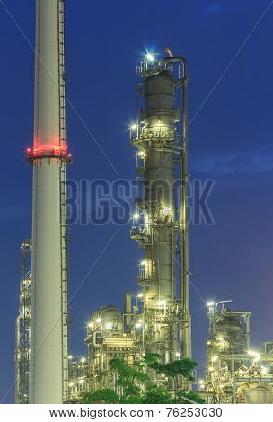 Oil Refinery Tower building