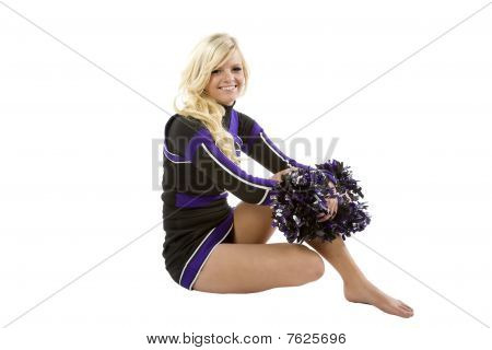 Cheerleader Sitting Sideways