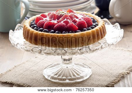 Flan Case With Fresh Fruit