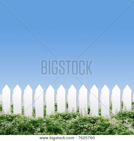 White Fences And Blue Sky