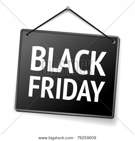 Black Friday door sign