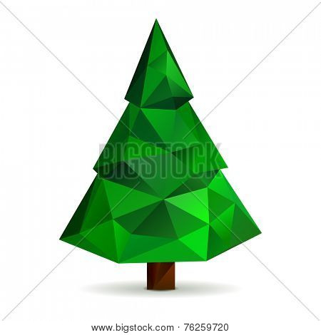 Polygonal Christmas tree