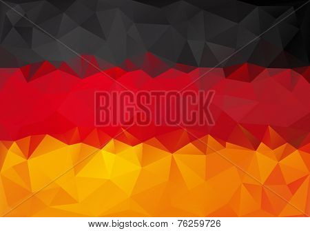 Flag of Germany with polygonal style