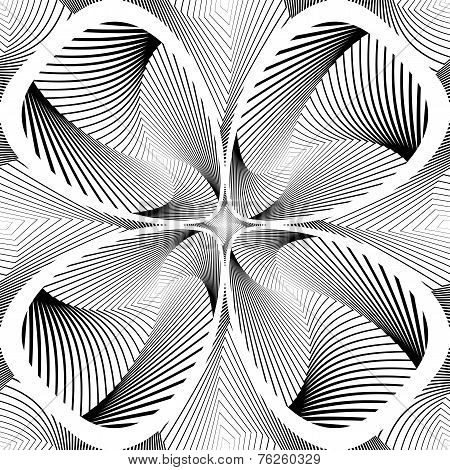 Design Monochrome Decorative Twirl Background