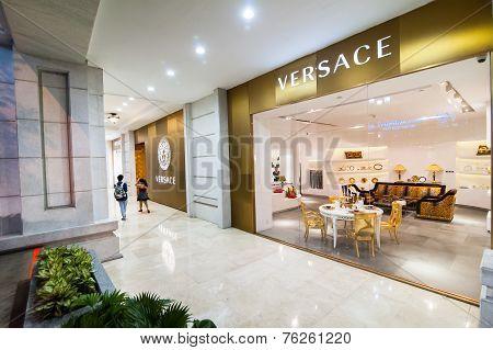 Versace Boutique Display Window. Ho Chi Minh, Vietnam