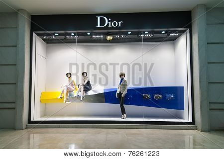 Christian Dior Boutique Display Window. Ho Chi Minh, Vietnam