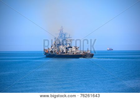 Modern Russian warship