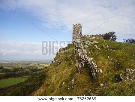 Brentor Church Dartmoor In Winter
