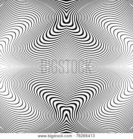 Design Monochrome Whirl Lines Motion Background