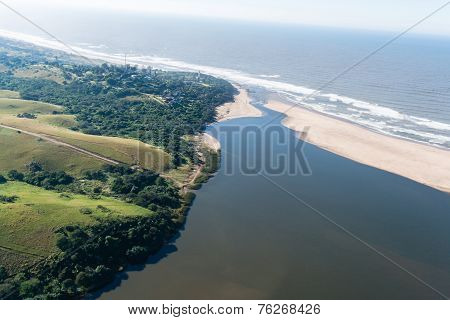 River Sandbanks Aerial View Landscape