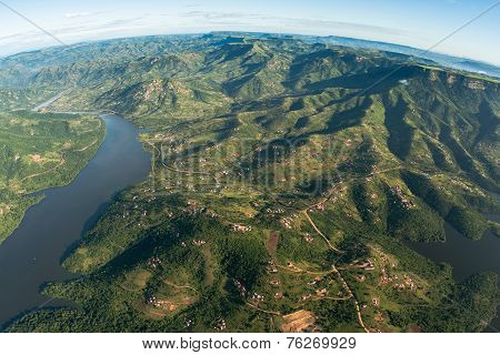 Aerial View Landscape Waters