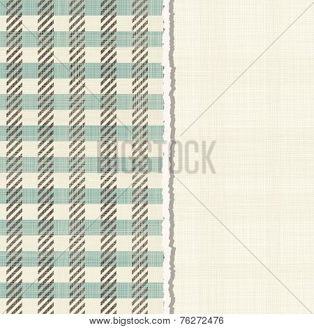 Invitation Card With Abstract Pattern On Texture Background