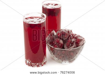 Cranberry Juice With Ice.