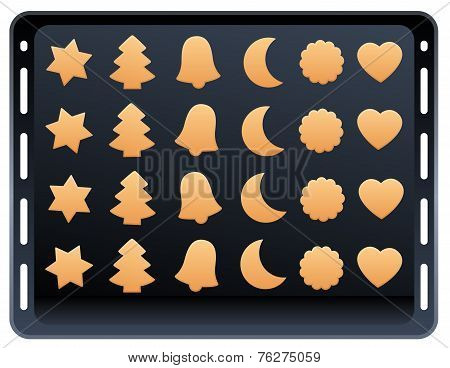 Shortcrust Pastry Cookie Baking Plate