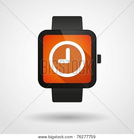 Smart Watch Icon With A Clock