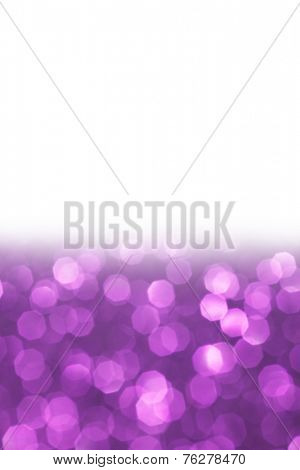 Purple bokeh holiday textured glitter background