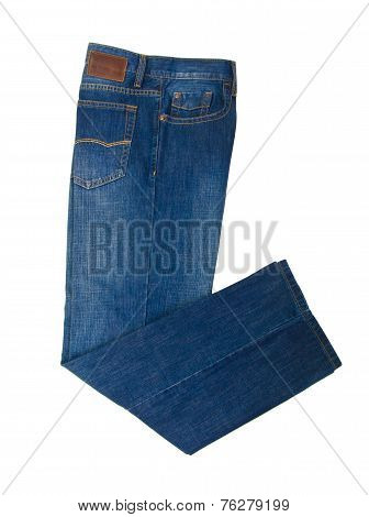 Jeans, Stylish Jeans On Blackground