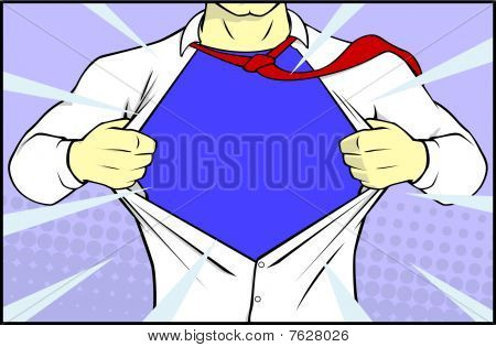 Superman on white