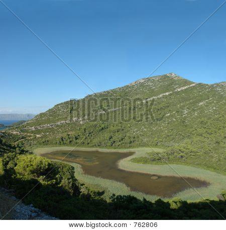 Pool on Mljet island