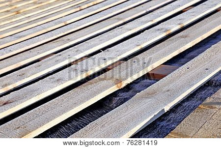 Lathing Of Roofing System Of Wooden Boards