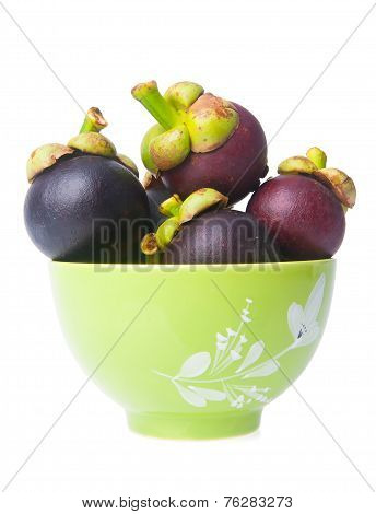 Mangosteen On Background