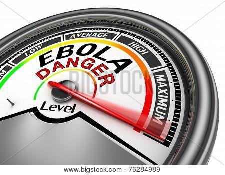Ebola Danger Conceptual Meter Indicate Maximum
