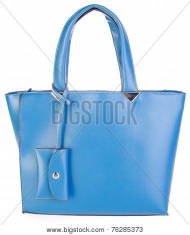 Bag. Blue Bag On Background.