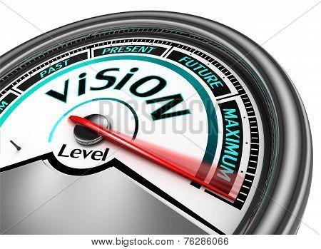 Vision Conceptual Meter Indicate Maximum