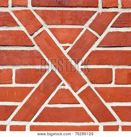 Old artistic brickwork