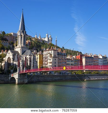 Famous View Of Lyon City