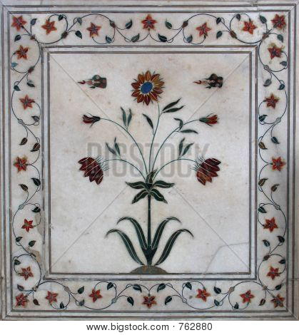 Beautiful inlaid marble
