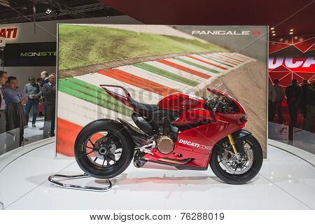 Ducati Panigale R Motorbike At Eicma 2014 In Milan, Italy