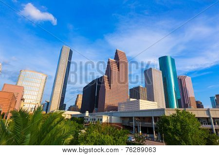 Houston Skyline North view in Texas US USA