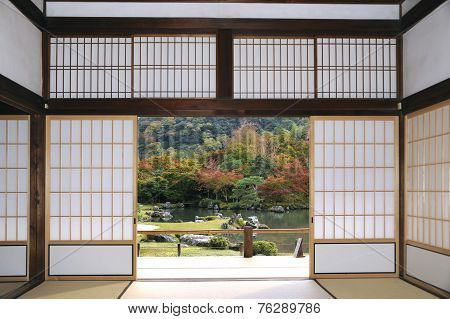 Tenryuji Sogenchi Garden In Kyoto