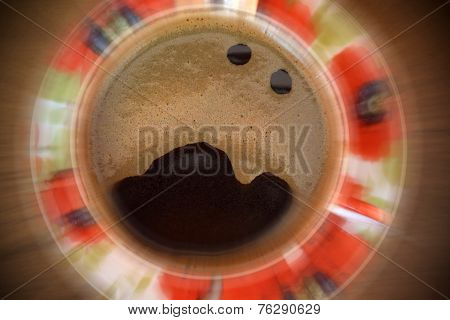 screaming bursting cup of coffee
