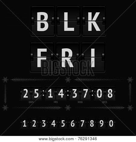 Black friday countdown timer