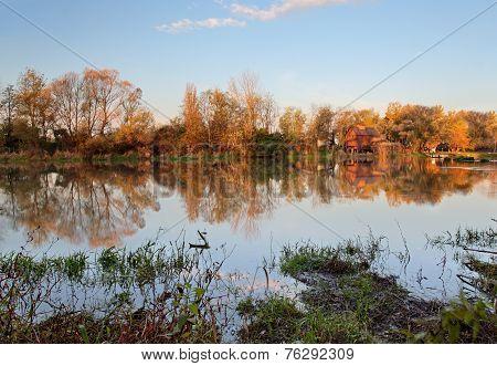Watermill In River Small Danube - Slovakia, Jelka