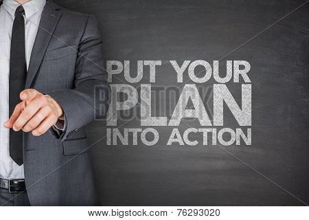 Put your plan into action on blackboard